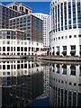 TQ3780 : Office buildings at Canary Wharf : Week 12