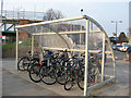 TQ3675 : Cycle stand at Brockley station by Stephen Craven