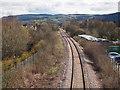 NO1318 : Railway line, east of Bridge of Earn : Week 14