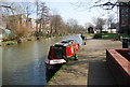 TQ5946 : Narrowboat on the River Medway by N Chadwick