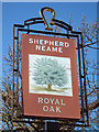 TR1056 : Royal Oak sign by Oast House Archive