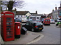 TM2863 : Market Hill &amp; Market Hill Postbox by Adrian Cable