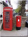 TM2863 : Telephone Box &amp; Market Hill Postbox by Adrian Cable
