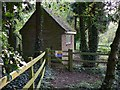 TQ0419 : Building at pond outfall near Old Place in Pulborough by Shazz