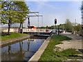 SJ6399 : Plank Lane Bridge, Leeds & Liverpool Canal by David Dixon