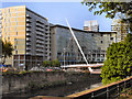 SJ8398 : River Irwell, Lowry Hotel and Trinity Footbridge by David Dixon