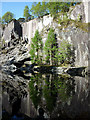 NY3101 : Reflections on the pool, Hodge Close Quarry : Week 17