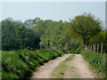 SO8686 : Bridleway north of Stourton, Staffordshire by Roger  Kidd