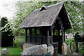 SK2572 : Lychgate, St Anne's, Baslow by David Lally