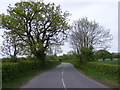 TM2768 : B1118 looking towards the B1116 Laxfield Road by Adrian Cable