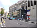 TQ2579 : Barclays Cycle Hire Docking Station, Wrights Lane, Kensington by PAUL FARMER