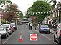 TQ4077 : Couthurst Road street party - preparation by Stephen Craven