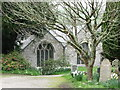 SW9347 : The churchyard at Creed, Cornwall by nick macneill