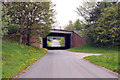 NY4349 : Road under the M6 near Wreay by Steven Brown