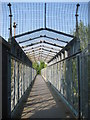 TQ4488 : Newbury Park: Chase Lane footbridge by Nigel Cox