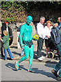 TQ8209 : Green painted man at Jack in the Green by Oast House Archive