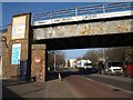 TQ3777 : Railway bridge, Deptford Church Street by Derek Harper