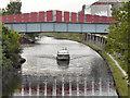 SJ8096 : Bridgewater Canal, Old Trafford Footbridge by David Dixon