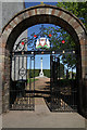 NN9412 : Gateway and War Memorial by Martin Addison