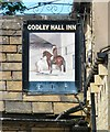 SJ9694 : Sign of Godley Hall Inn by Gerald England