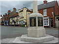SK5276 : High Street, Whitwell, and the war memorial by Andrew Hill