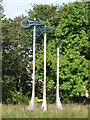 TQ3874 : Weather vane sculpture in Manor Park by Mike Quinn