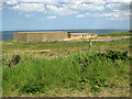 TG0943 : Defence structures above the beach at Muckleburgh Collection by Evelyn Simak