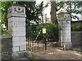 TQ3975 : The gates of The Manor House, Old Road, SE13 by Mike Quinn