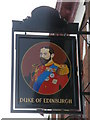 TQ3975 : Sign for The Duke of Edinburgh, Lee High Road (A20) by Mike Quinn