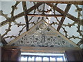 SJ8358 : Panel at the top of the south end of the Long Gallery by Marion Haworth