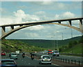 SE0416 : The B6114, Saddleworth Road goes over the M62 by Ian S