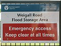 TQ4075 : Sign for the Weigall Road Flood Storage Area by Mike Quinn