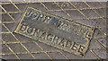 J5979 : John Moore manhole cover, Donaghadee by Albert Bridge