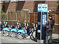 TQ3282 : Cycle hire - Windsor Terrace by Stephen McKay