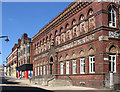 SJ8649 : Burslem - north side of Queen Street by Dave Bevis