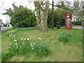 SP5365 : Braunston: telephone box alongside the main road by Chris Downer