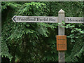 SP3059 : Crematorium signpost by Alan Murray-Rust