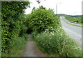 SK4566 : Footpath by the A617 by Andrew Hill