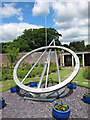 TQ6410 : Tercentenary sun dial at Herstmonceux Castle gardens by Oast House Archive