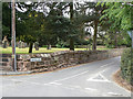 SP1798 : Churchyard wall, Middleton by Alan Murray-Rust