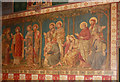 TQ2581 : St Stephen, Westbourne Park Road - Wall painting by John Salmon