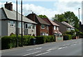 SK4766 : Houses by the main road through Glapwell by Andrew Hill