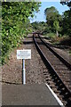 TG1001 : Warning sign Wymondham Abbey Station by Glen Denny
