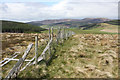 NJ1821 : Fence on Carn Sleibhe by Dorothy Carse