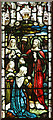 TQ3063 : St Paul, Mollison Drive, Roundshaw Estate - Stained glass window by John Salmon