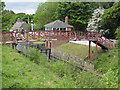 NZ2154 : Railway footbridge, Beamish by Pauline Eccles