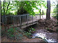 TQ4369 : Footbridge over the Kyd Brook at the southern end of Gosshil Road, BR7 by Mike Quinn