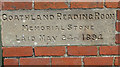 NZ8301 : Memorial stone, Goathland Reading Room by Pauline Eccles