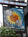 TQ4467 : Sign for The Daylight Inn, Station Square, Petts Wood, BR5 by Mike Quinn