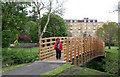 NN8522 : New Bridge in MacRosty Park by Martin Addison